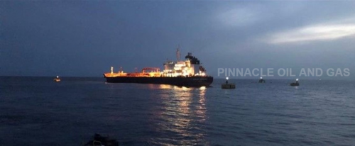 23 - March - 2021: Arrival of the First Vessel at the Pinnacle Oil and Gas Offshore Terminal in Lekki, Lagos, Nigeria