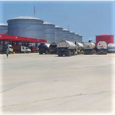 Construction the of Pinnacle Oil and Gas Offshore Onshore Liquid Bulk Terminal at Lekki Free Zone