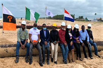 Construction the of Pinnacle Oil and Gas Offshore Onshore Liquid Bulk Terminal at Lekki Free Zone (2)